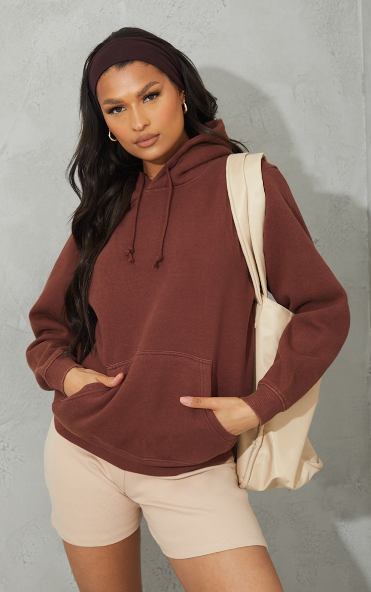 Chocolate Ultimate Oversized Washed Hoodie 1
