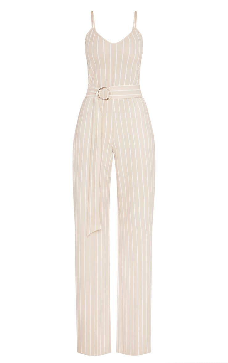 Tall Stone Pinstripe O-Ring Belt Jumpsuit 3