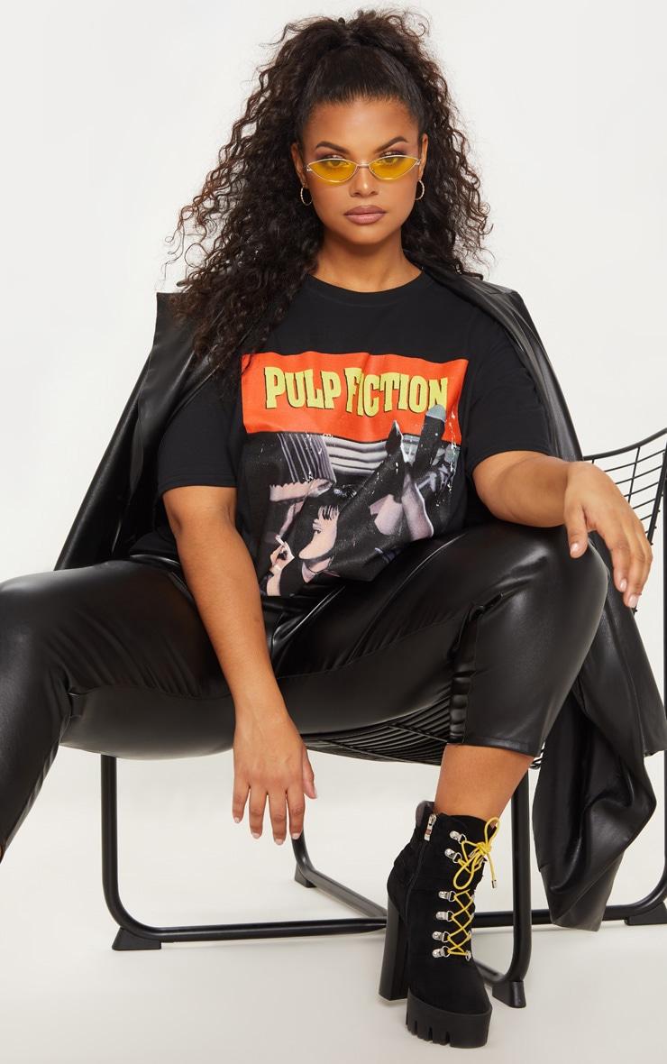 Plus Black Pulp Fiction Slogan T-shirt 5