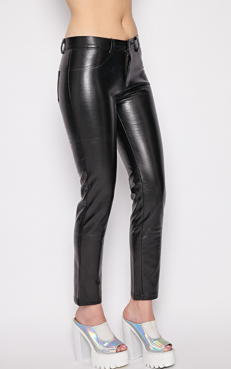 Hanna Black PU Trousers 3