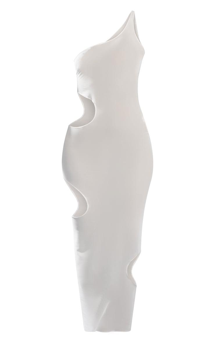 White Sleeveless Cut Out Maxi Dress 5