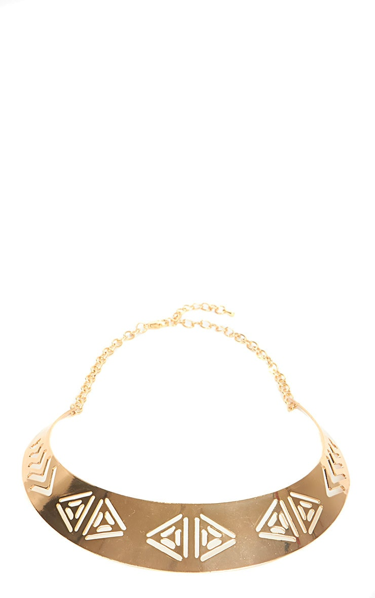 Lilian Gold Cut Out Collar 2