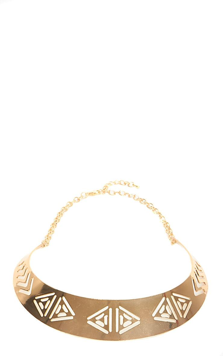 Lilian Gold Cut Out Collar 2