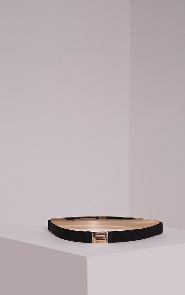 Embla Gold Plate Elasticated Waist Belt 4