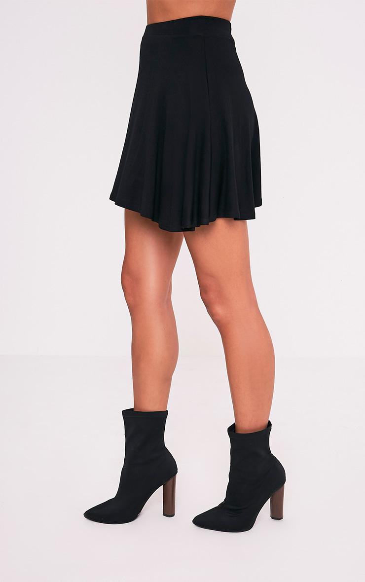 Basic jupe patineuse noire 5