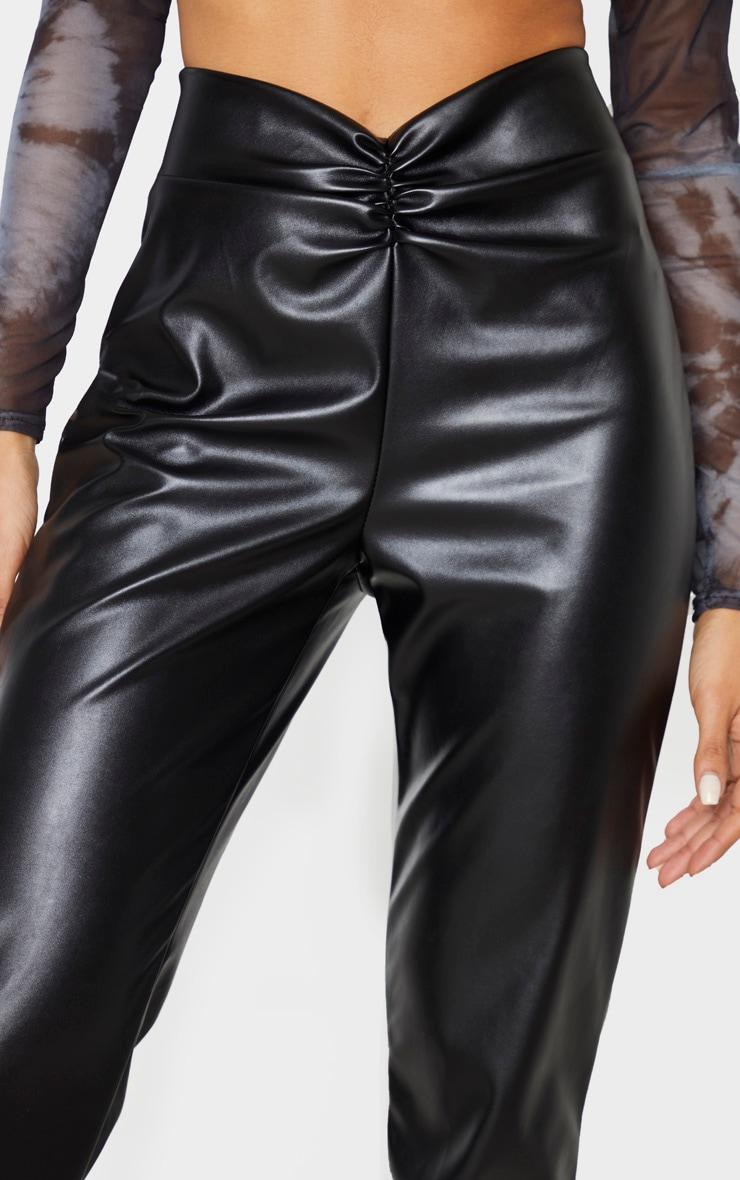 Black Faux Leather Trouser  5