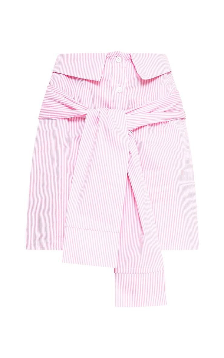 Bia Pink Pinstripe Shirt Skirt 3