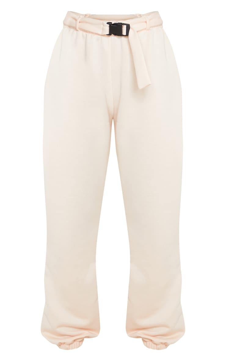 Pink Buckle Belted Casual Joggers 5