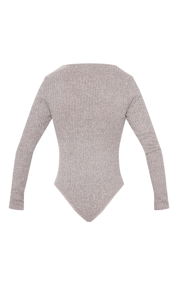 Stone Rib Long Sleeve Scoop Neck Bodysuit 4