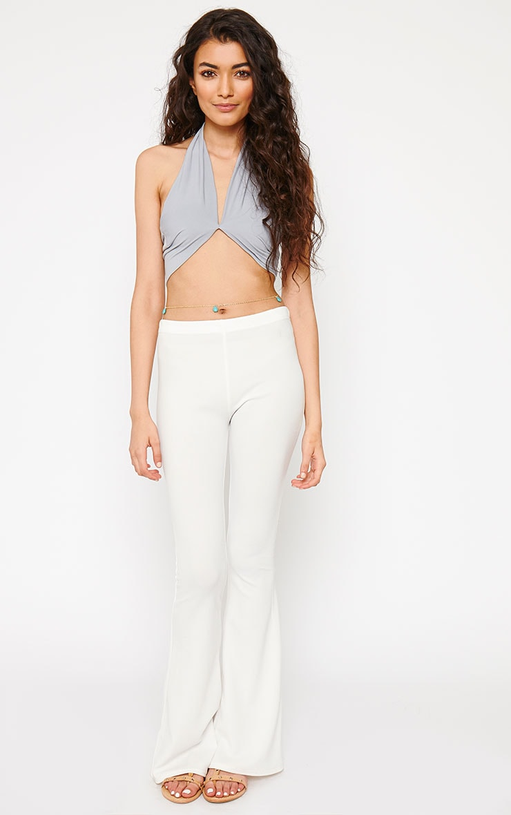 Eloise Grey Halterneck Crop Top 3