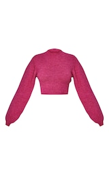 RENEW Pink Knitted Tie Back Cropped Sweater 5
