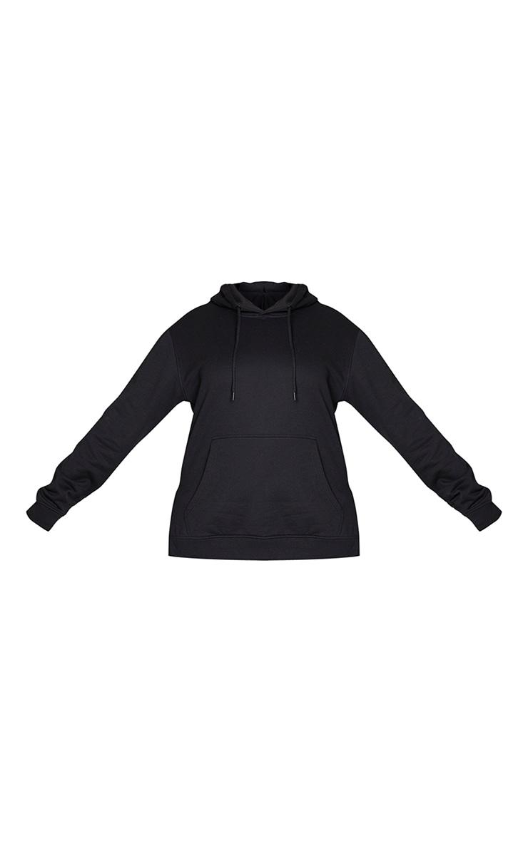 Plus Black Split Detail Hoodie 5