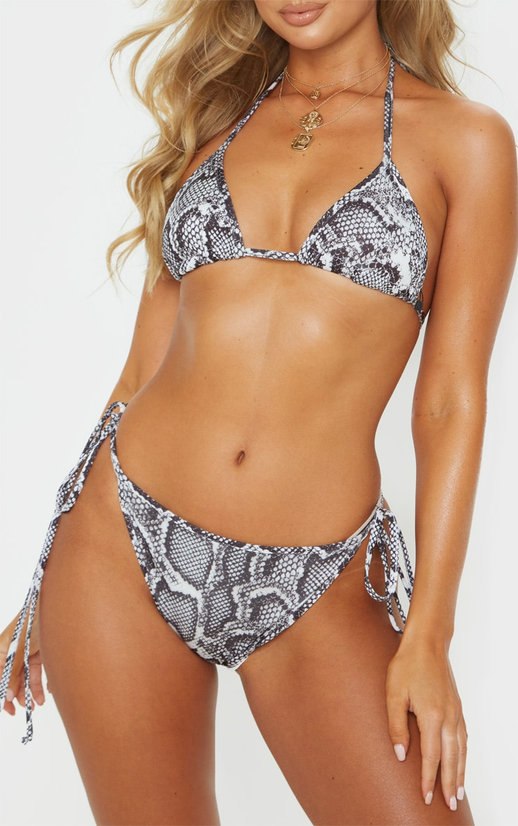 Snake Mix & Match Tie Side Bikini Bottom 1