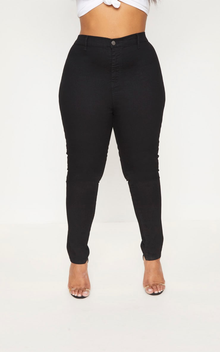 Plus Black High Waist Skinny Jeans 6