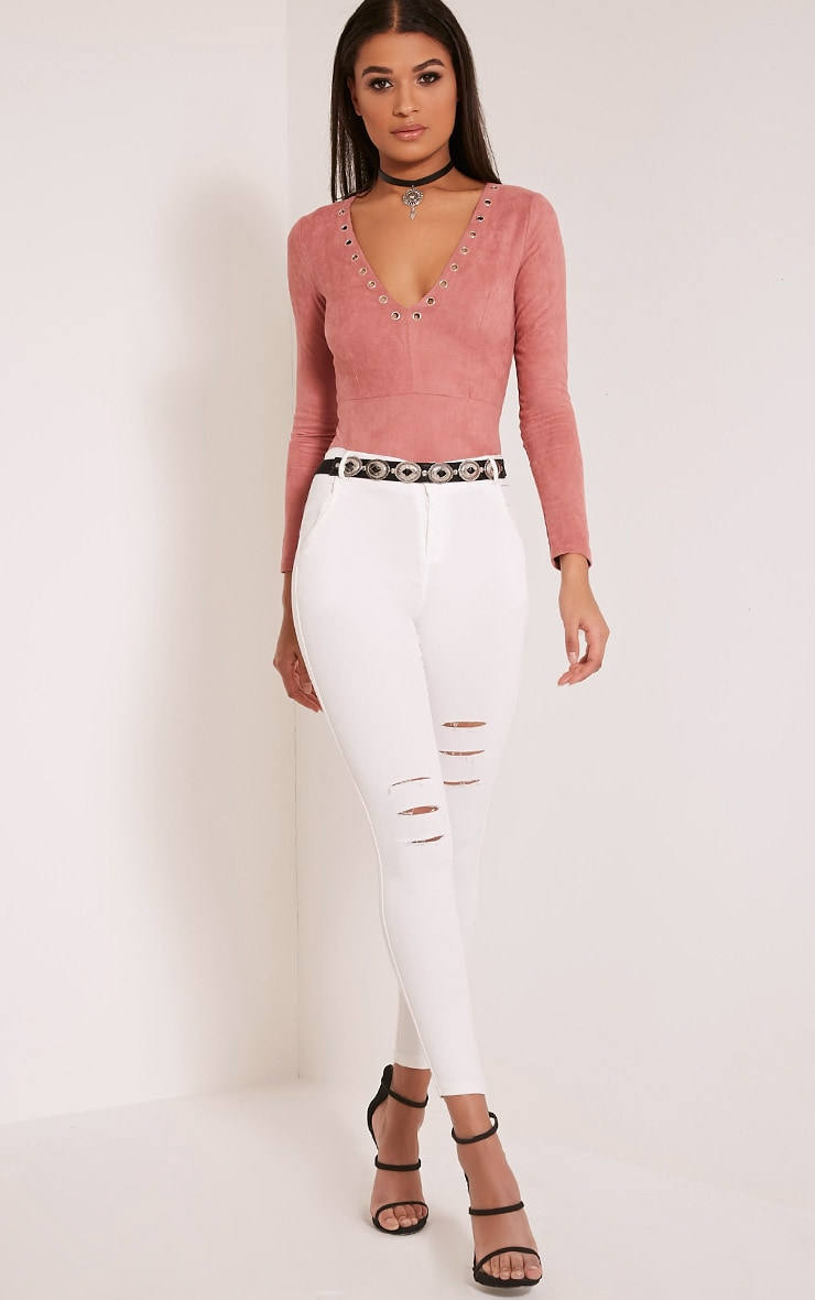 Jacee Cream Jeggings 1