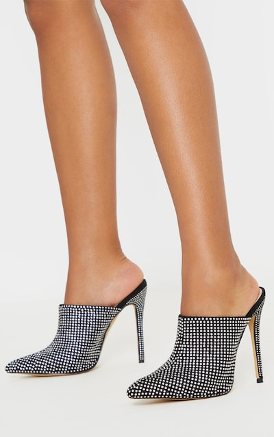 Diamante Point Toe Mule