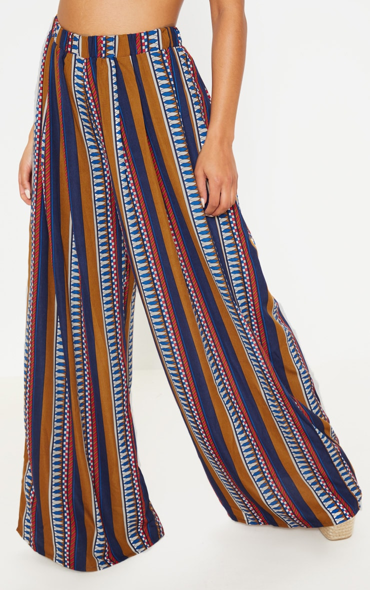Multi Geo Print Wide Leg Trousers 2