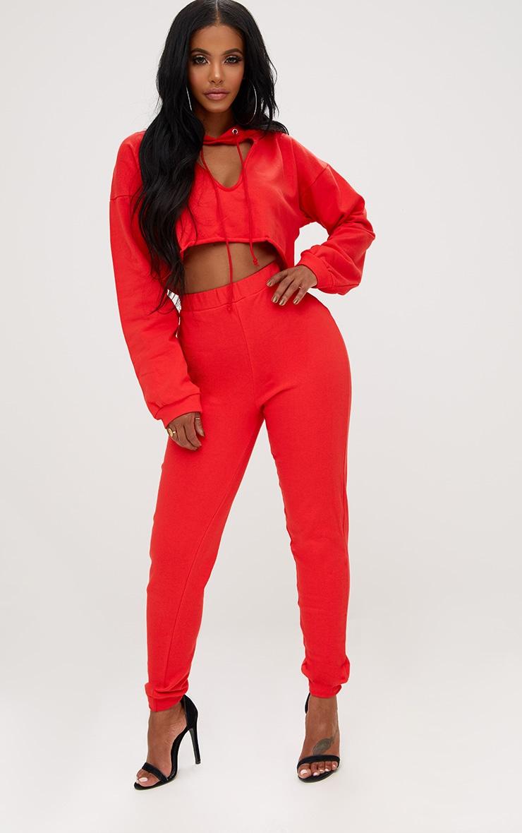 Shape Red Elastic Bottom Joggers  1