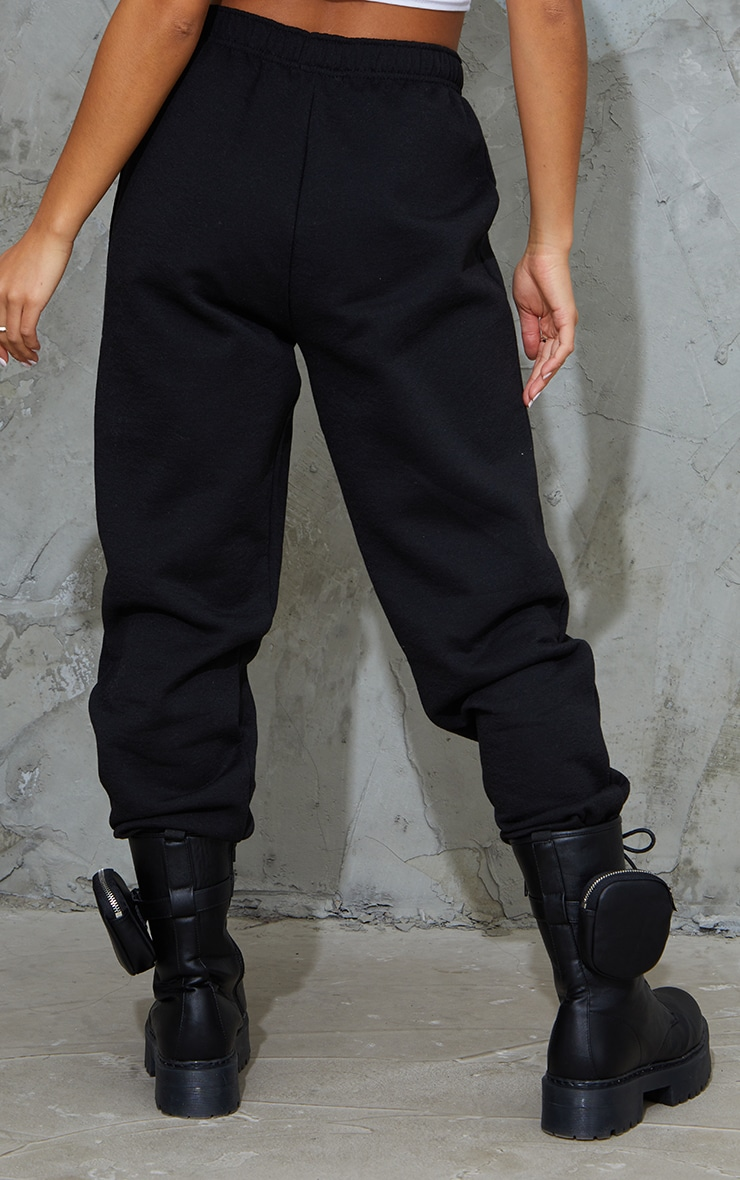 Petite Black Pocket Thigh Casual Joggers 3