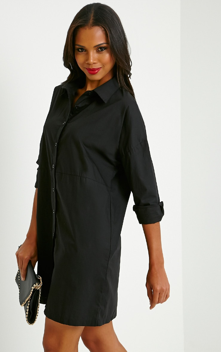 Carson Black Shirt Dress 4