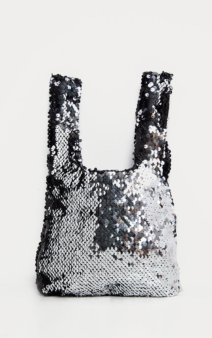 Black Sequin Mini Pouch Bag 2