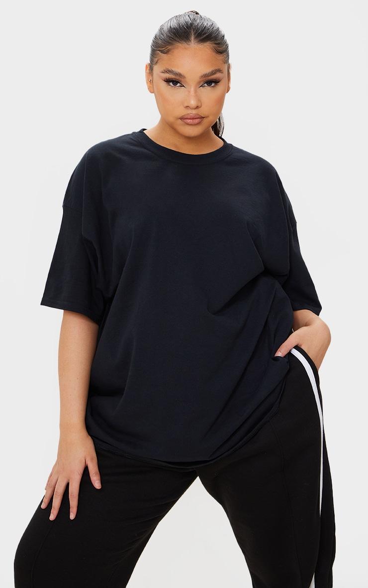 Plus Ultimate Black Oversized T Shirt 1