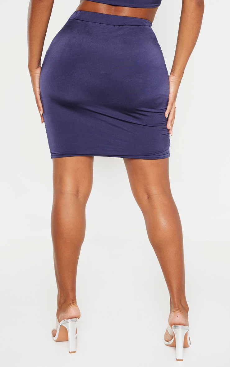 Shape Midnight Blue Ruched Front Mini Skirt 5