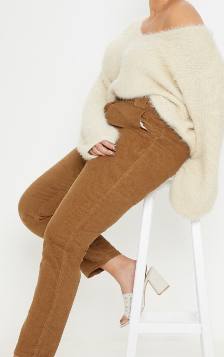 Plus Brown Corduroy Pants 5