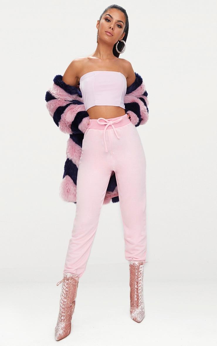 Helsa Pastel Pink Slinky Bandeau Crop Top 4