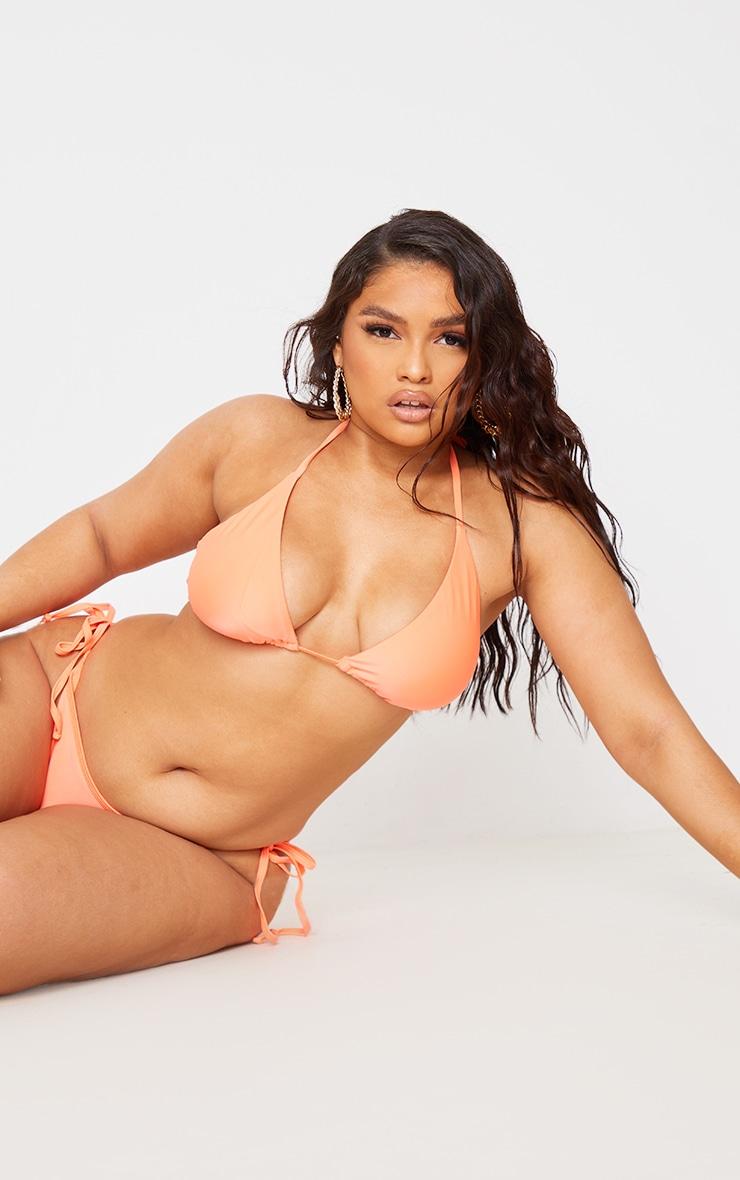 Recycled Plus Coral Mix & Match Triangle Bikini Top 1