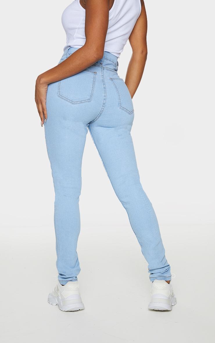Shape Light Wash High Waist Super Stretch Skinny Jeans 3