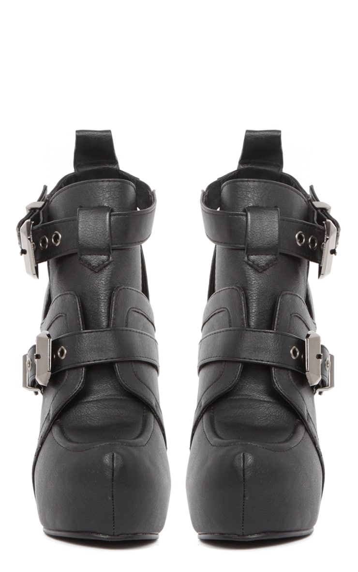 Shannon Leather Platform Buckle Boots 3
