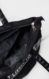 PRETTYLITTLETHING Black Nylon Tote Bag 4