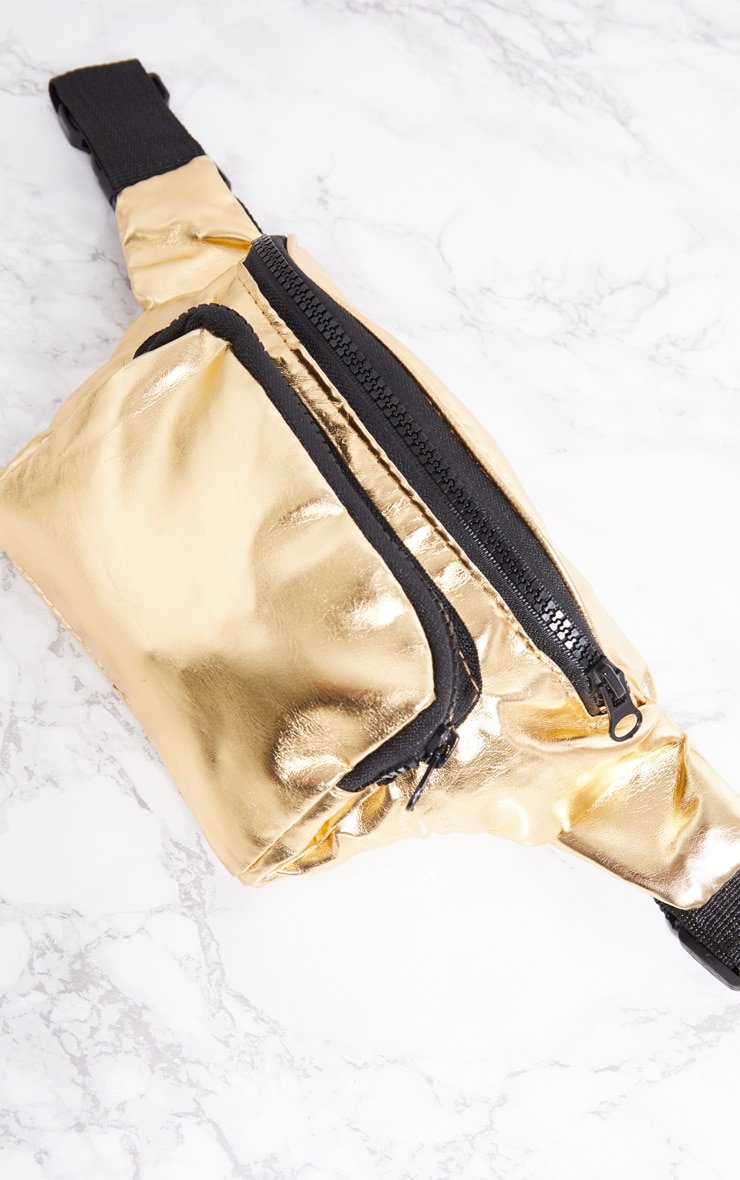 Gold Metallic Bum Bag 5