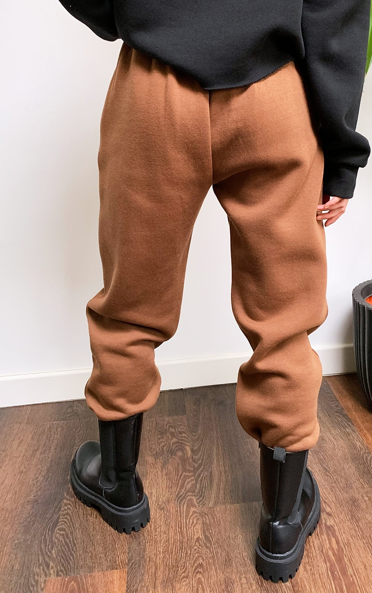Chocolate Popper Front Joggers 3
