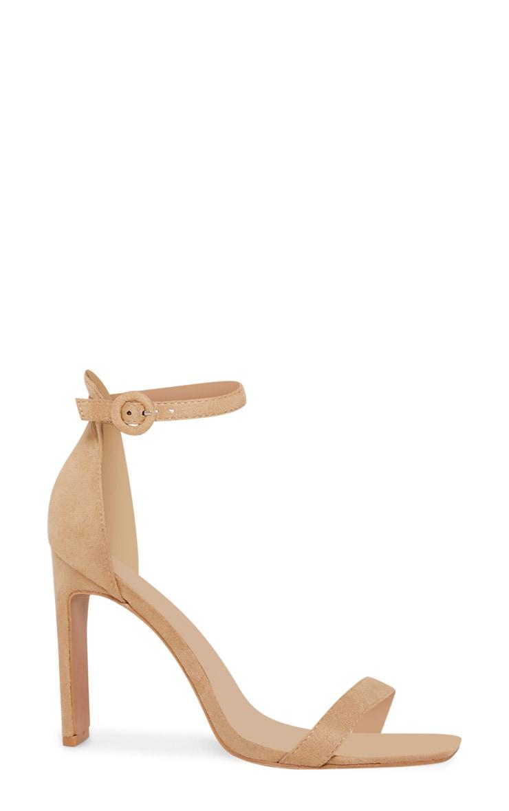 Chaussures nude en suédine à talons fins & plats 3