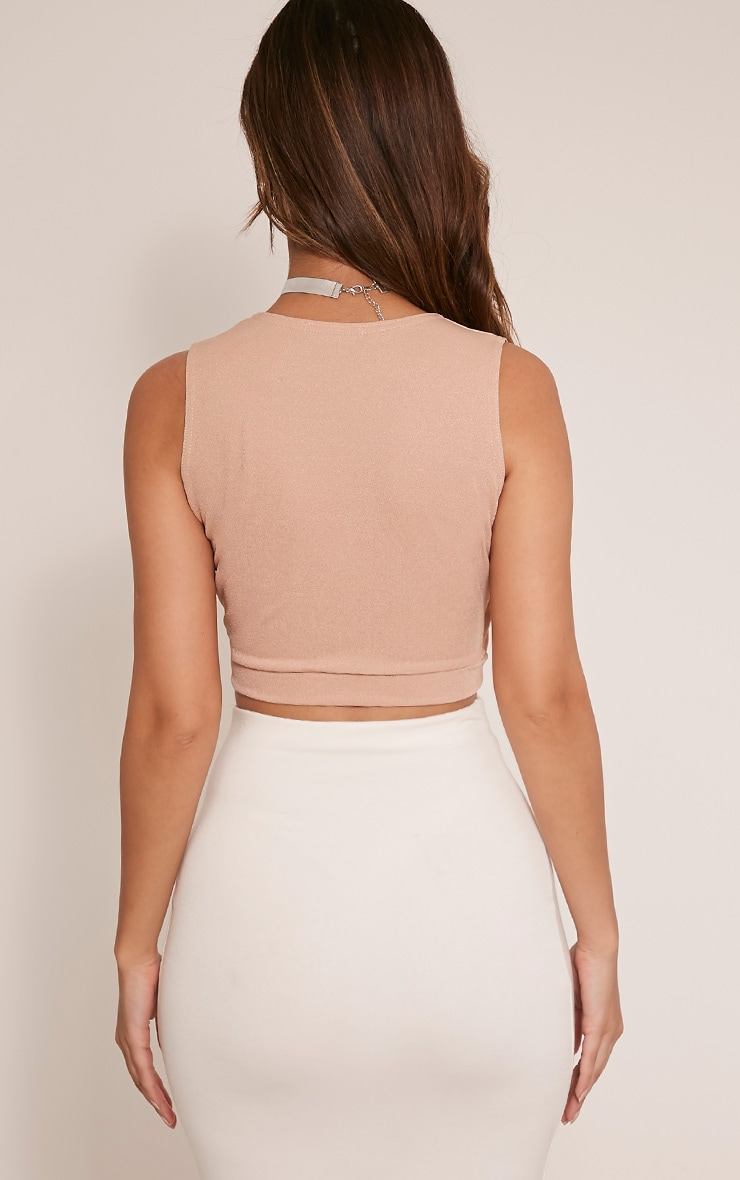 Aoife Stone D Ring Wrap Crop Top 2