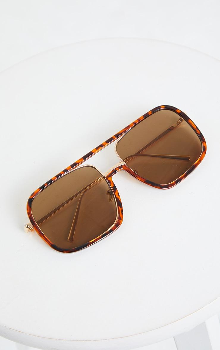 Tortouise Shell Flat Top Sunglasses 2