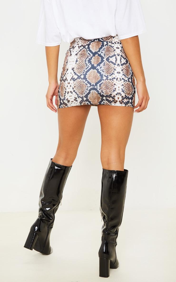 Cloressa Snake Print Mini Skirt 4