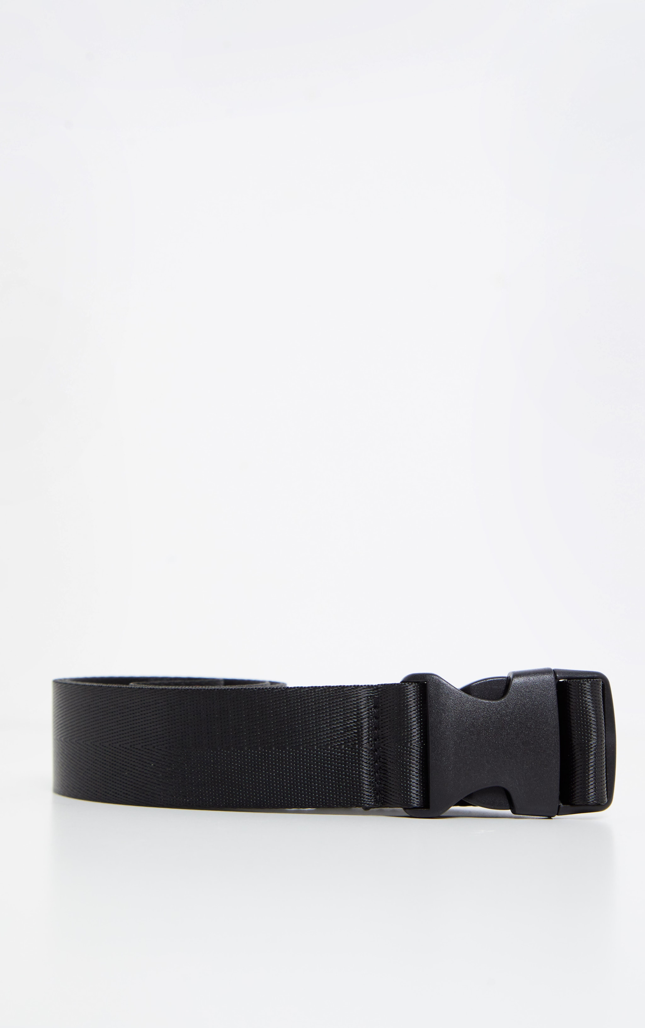 Black Slider Buckle Tape Belt 2