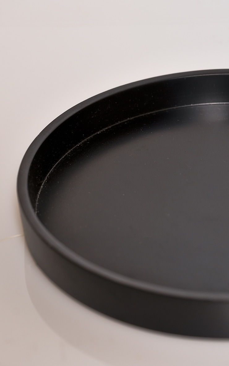 Black Small Round Resin Tray 4