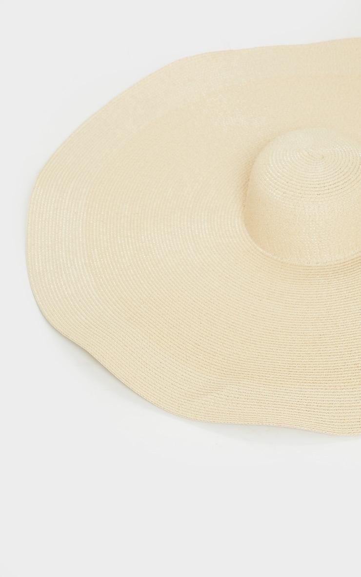 Cream Oversized Straw Hat 4