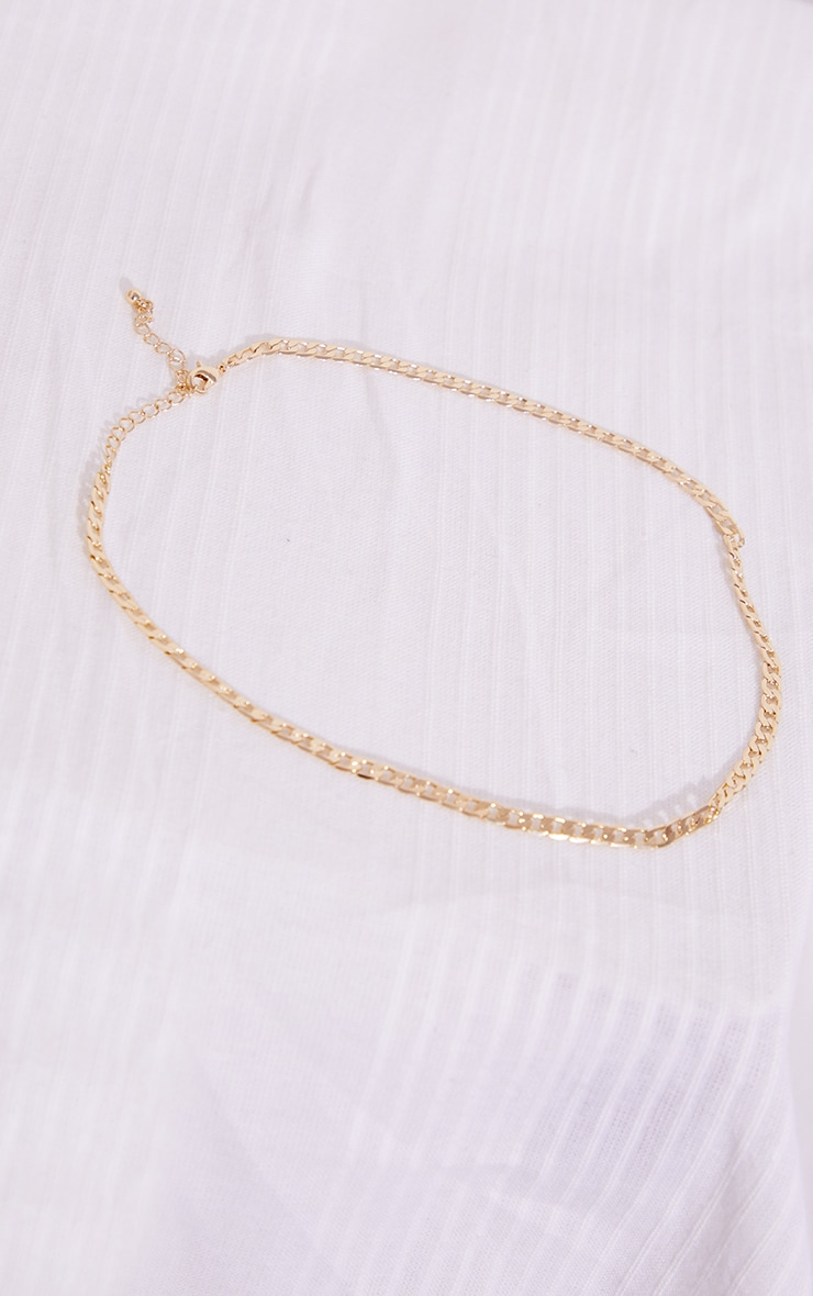 Gold Dainty Curb Chain Necklace 4