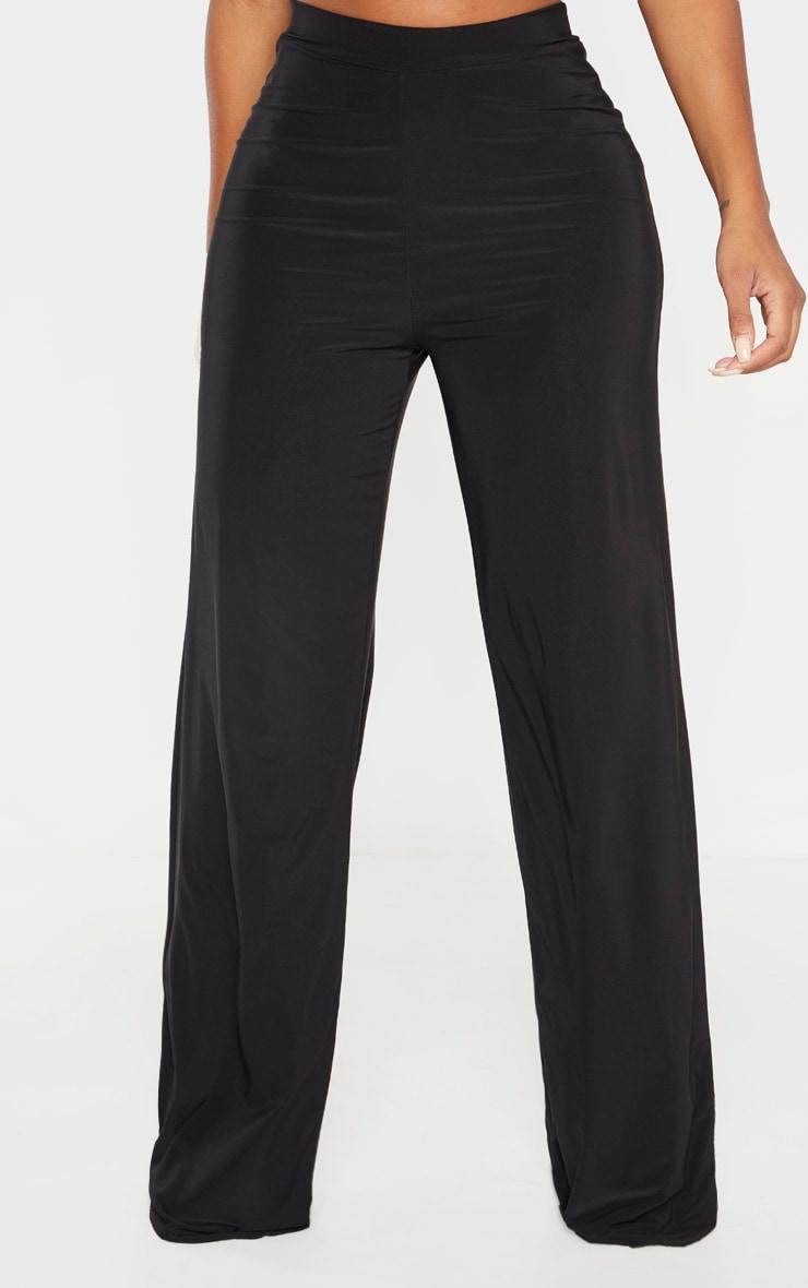 Shape Black Slinky Wide Leg Pants 2