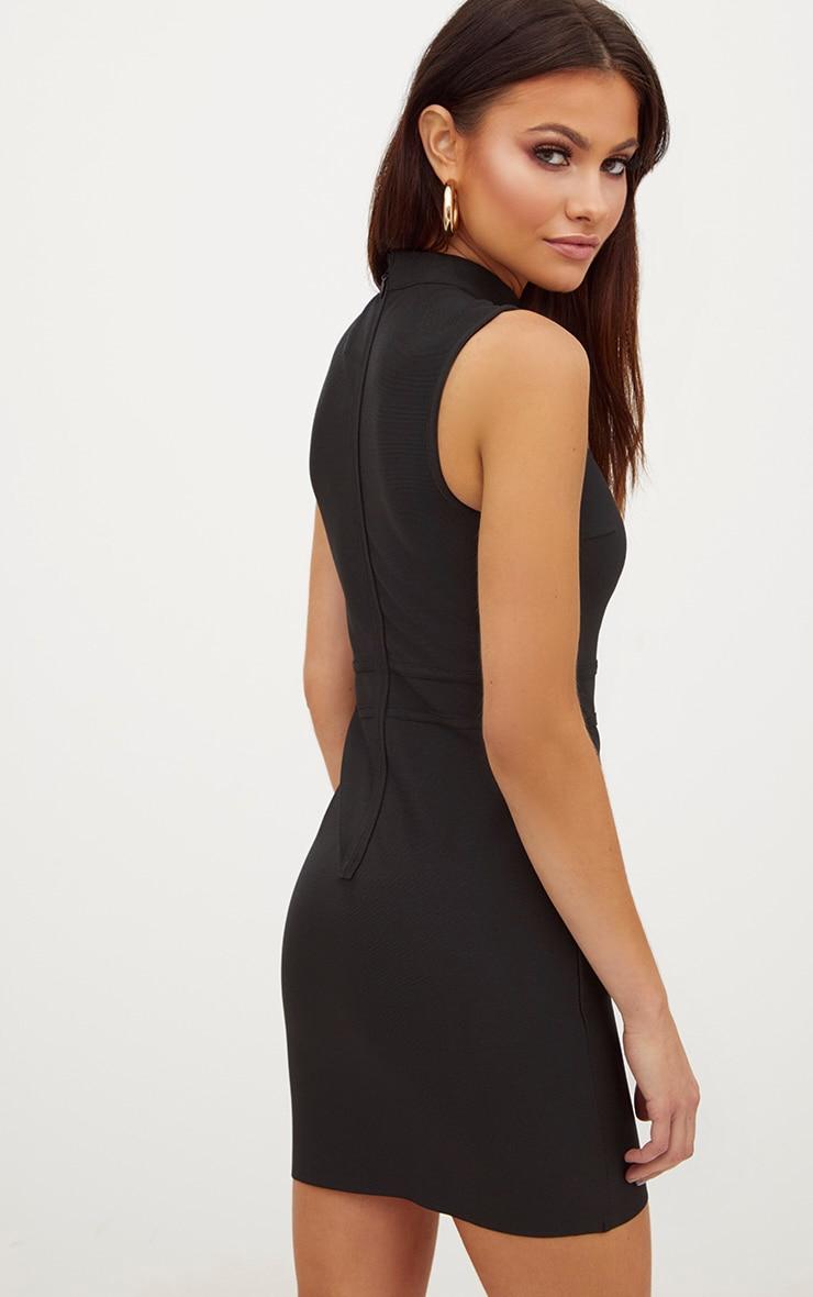 Black Criss Cross Bandage Bodycon Dress