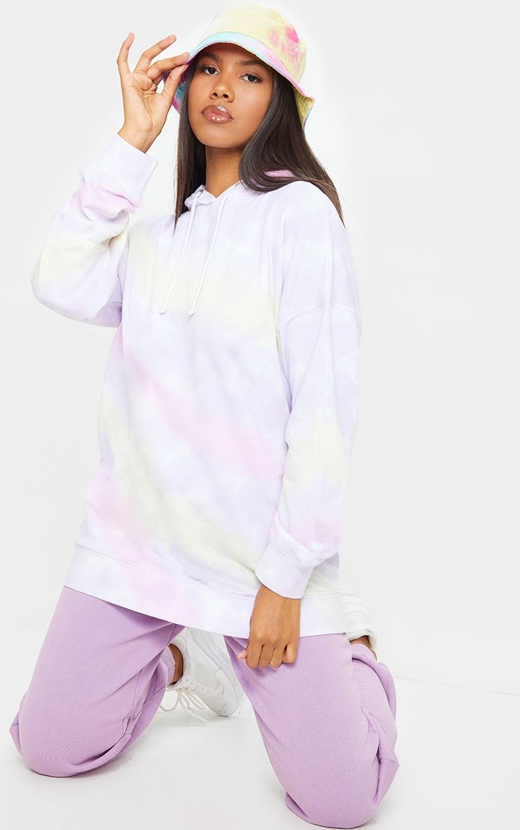Multi Tie Dye Long Sleeve Oversized Hoodie 3