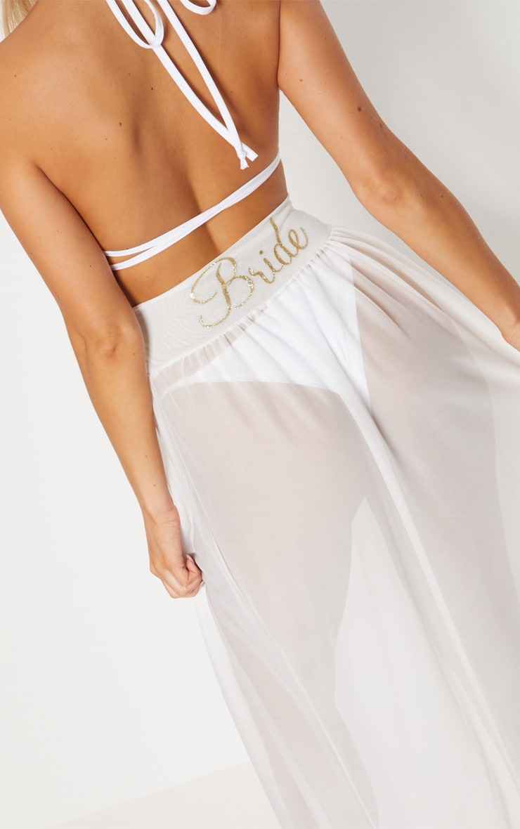White Bride Beach Skirt 5