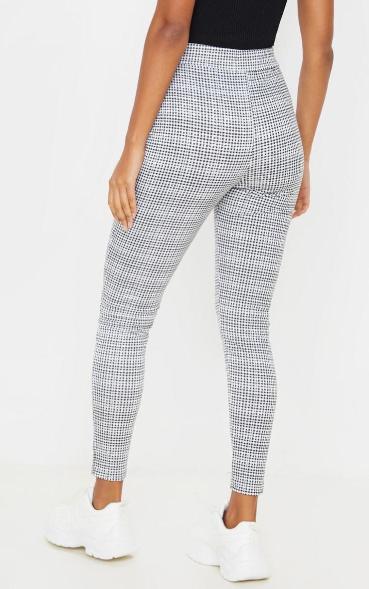 Black Checked Skinny Trouser  4