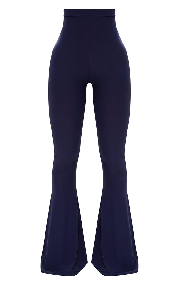 Shape Navy Slinky Flared Leg Pants 3