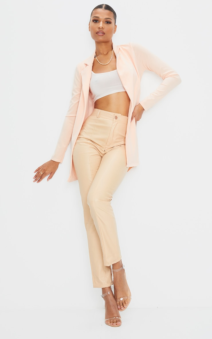 Blazer long nude 3